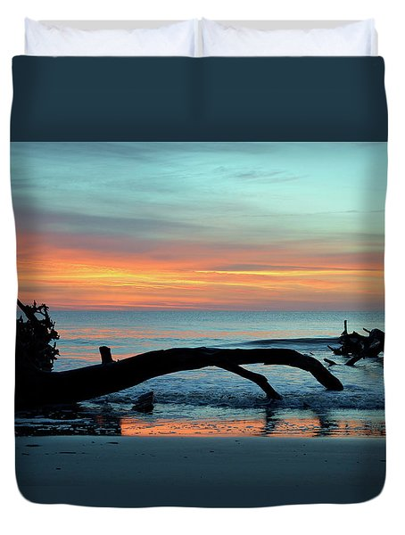 Duvet Cover featuring the photograph Jekyll Island Sunrise 2016a by Bruce Gourley