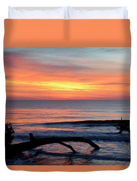 Duvet Cover featuring the photograph Jekyll Island Sunrise 2016b by Bruce Gourley