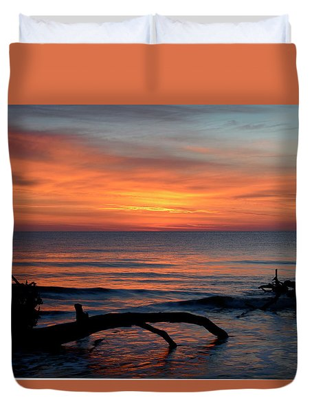 Duvet Cover featuring the photograph Jekyll Island Sunrise 2016c by Bruce Gourley