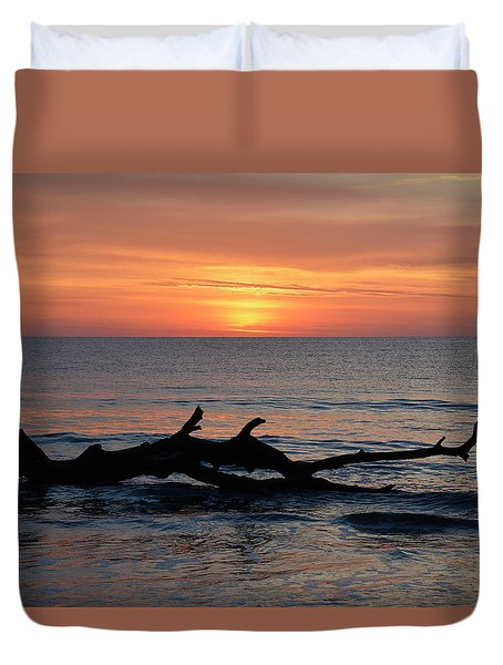 Duvet Cover featuring the photograph Jekyll Island Sunrise 2016d by Bruce Gourley