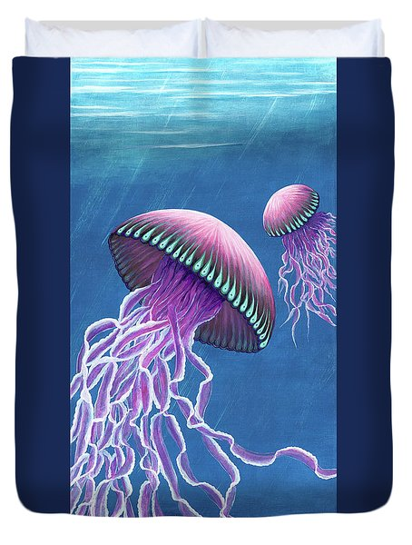 Jellies 3 Duvet Cover by Rebecca Parker