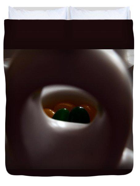 Duvet Cover featuring the photograph Jelly Bean Buddha by Richard Ricci