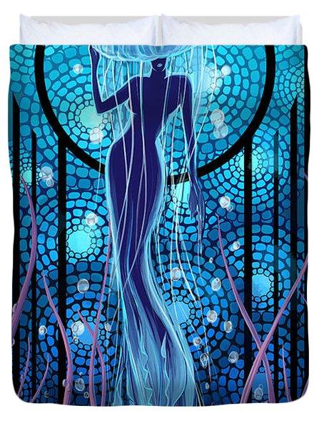 Jellyfish Mermaid Duvet Cover