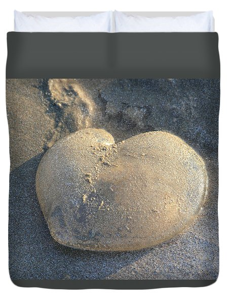 Jellyfish With A Big Heart Duvet Cover