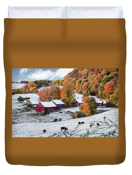 Jenne Farm, Reading, Vt Duvet Cover by Betty Denise