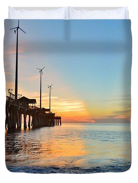 Jennette's Pier Aug. 16 Duvet Cover
