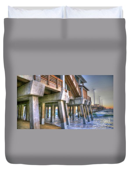 Jennette's Pier Duvet Cover by Scott and Dixie Wiley