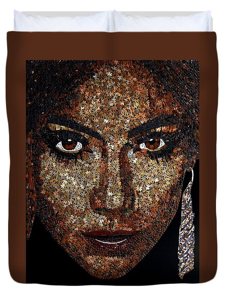Jennifer Lopez Duvet Cover