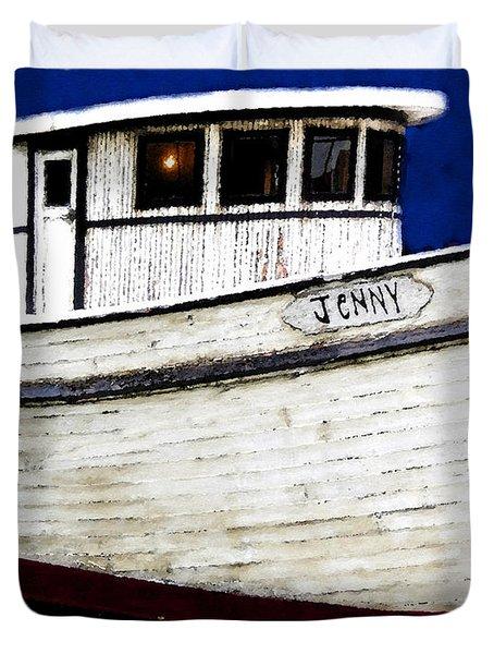 Jenny Duvet Cover by David Lee Thompson