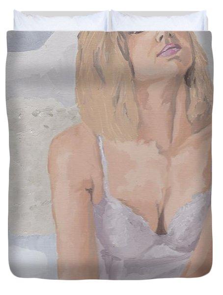 Jenny In White Duvet Cover