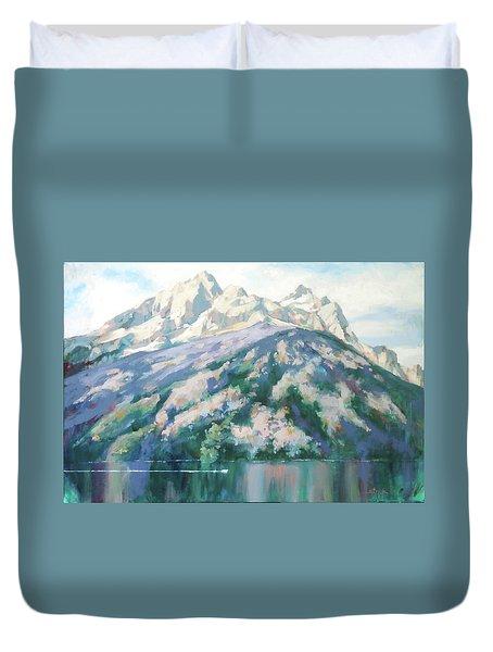 Jenny Lake Duvet Cover by Carol Strickland