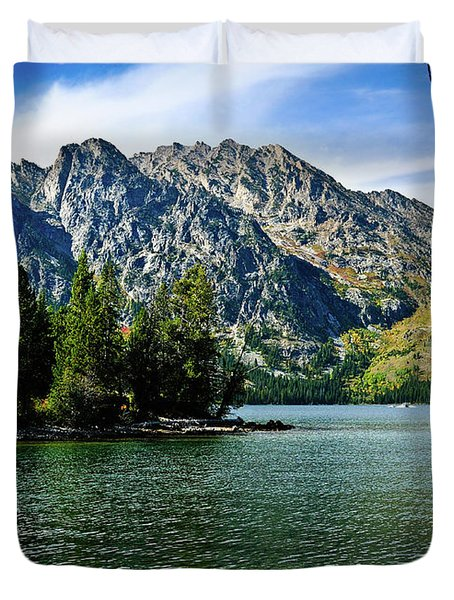 Jenny Lake Duvet Cover by Greg Norrell