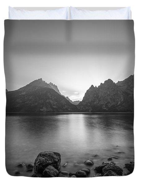 Jenny Lake Sunset Grand Teton Np Bw Duvet Cover
