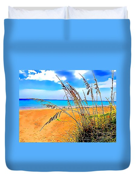 Duvet Cover featuring the photograph Jensen Beach by Patrice Torrillo
