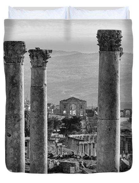 Jerash Ancient Ruins Duvet Cover