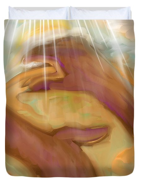 Jeremiah 32 And 17 Duvet Cover