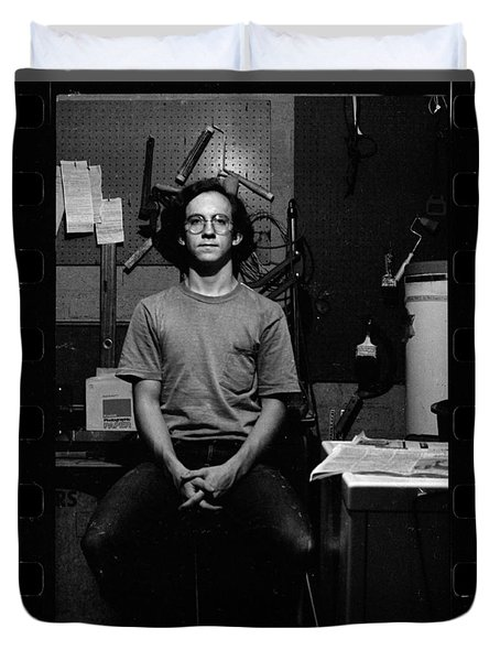Self Portrait, In Darkroom, 1972 Duvet Cover