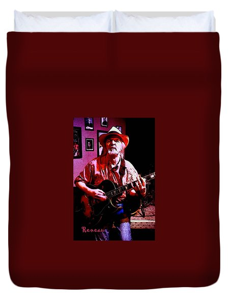 Jerry Miller - Moby Grape Man 1 Duvet Cover by Sadie Reneau