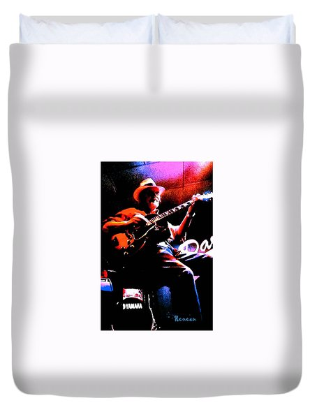 Jerry Miller - Moby Grape Man 2 Duvet Cover by Sadie Reneau