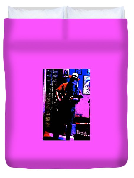 Jerry Miller - Moby Grape Man 4 Duvet Cover by Sadie Reneau