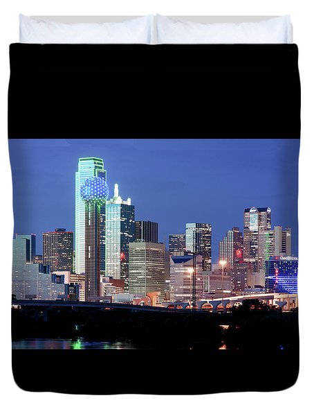 Jerry's Dallas Skyline Duvet Cover