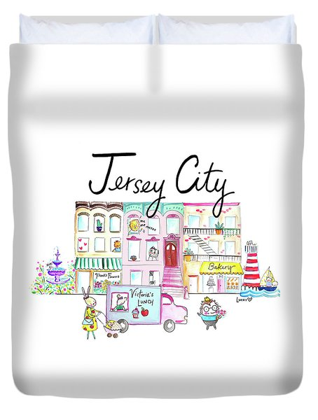 Jersey City Duvet Cover by Ashley Lucas