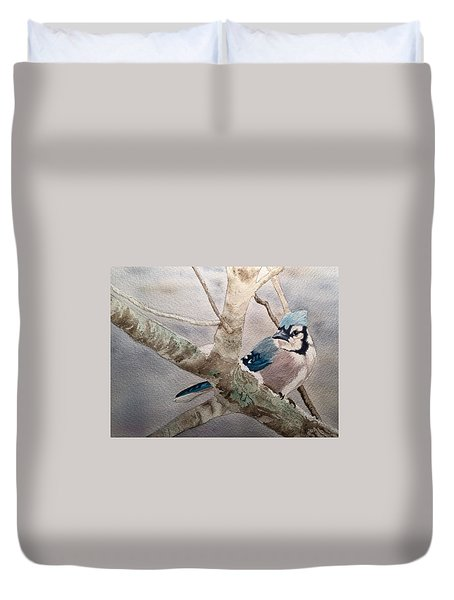 Cold Winter's Jay Duvet Cover