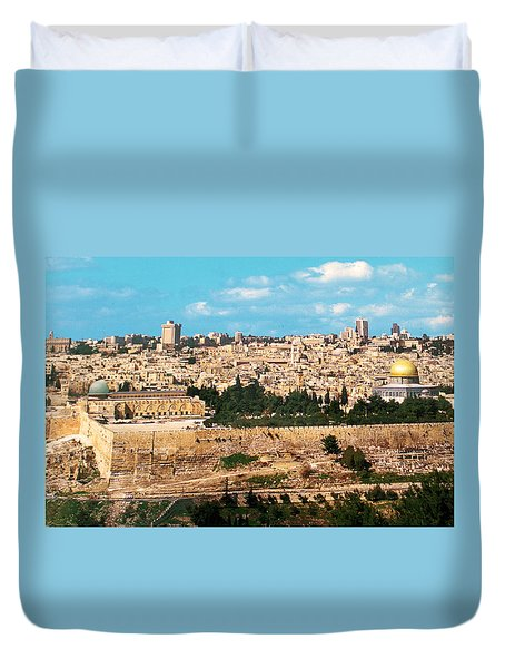 Jerusalem 1977 Duvet Cover by Munir Alawi