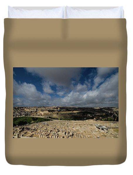 Jerusalem From Mount Of Olives Duvet Cover