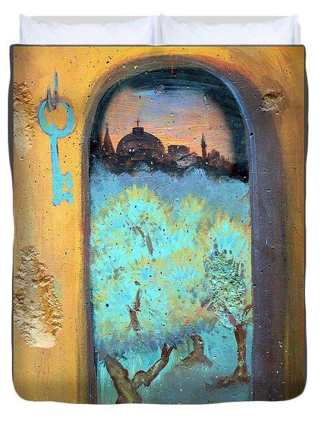 Jerusalem Key Duvet Cover