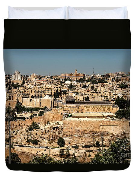 Duvet Cover featuring the photograph Jerusalem by Mae Wertz
