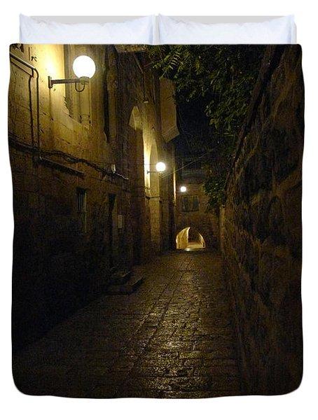 Duvet Cover featuring the photograph Jerusalem Of Copper 2 by Dubi Roman