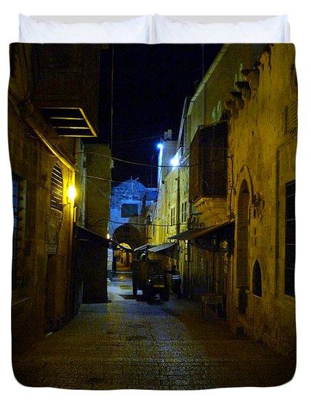 Duvet Cover featuring the photograph Jerusalem Of Copper 3 by Dubi Roman