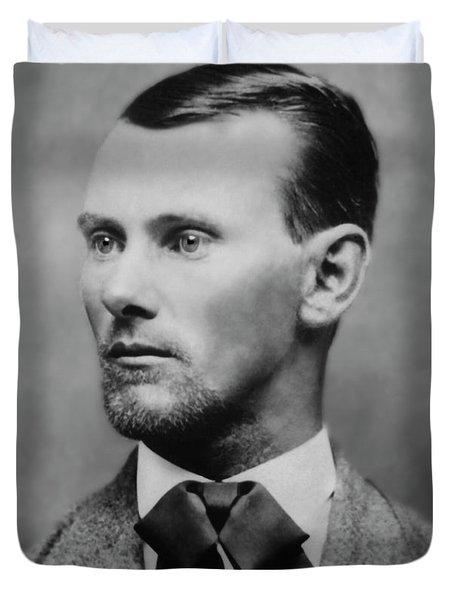Jesse James -- American Outlaw Duvet Cover by Daniel Hagerman