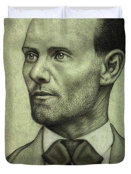 Jesse James Duvet Cover by James W Johnson