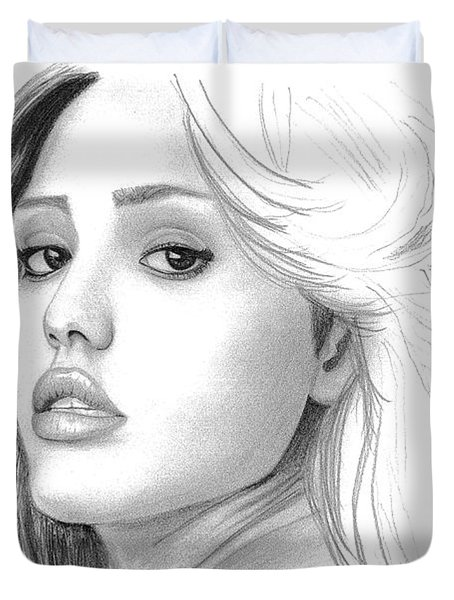 Jessica Alba Duvet Cover