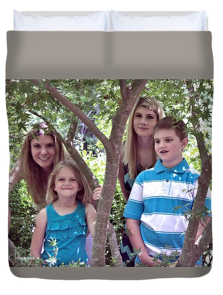 Jessica And Family Duvet Cover