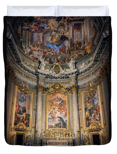 Duvet Cover featuring the photograph Jesuit Church Rome Italy by Joan Carroll