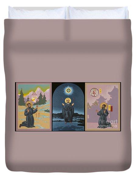 Jesuit Triptych-st Peter Faber-st Ignatius-st Francis Xavier Duvet Cover