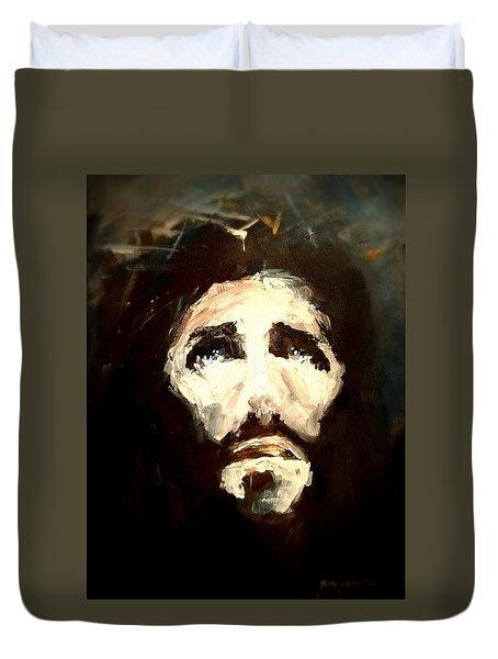 Jesus - 2 Duvet Cover by Jun Jamosmos