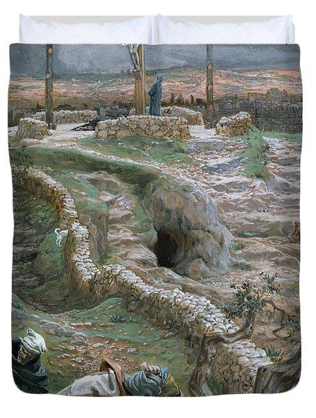 Jesus Alone On The Cross Duvet Cover