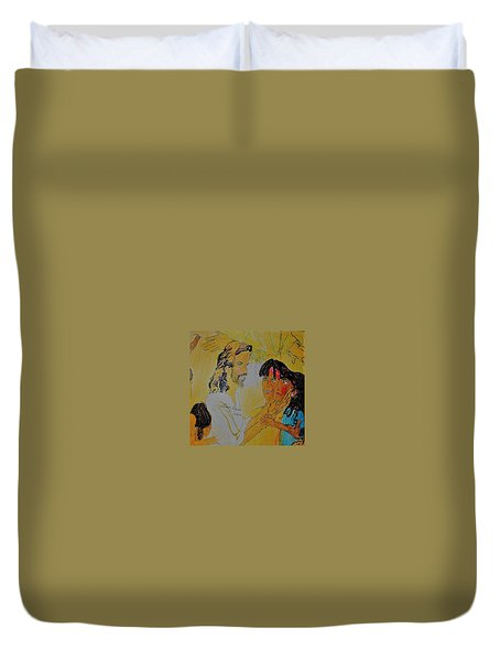 Jesus And The Children Duvet Cover