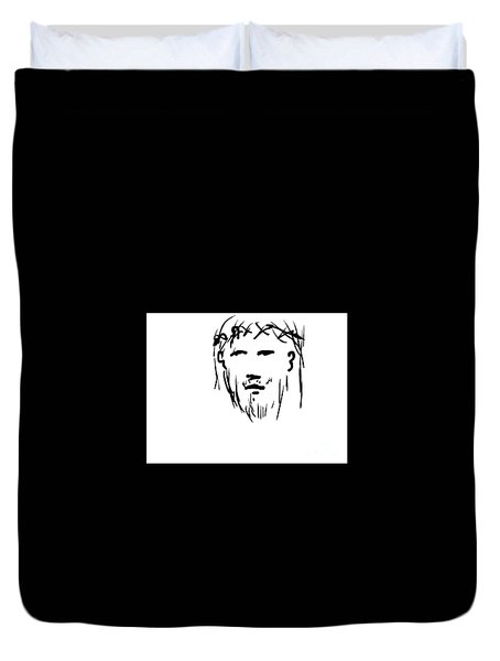Jesus Christ Head Duvet Cover