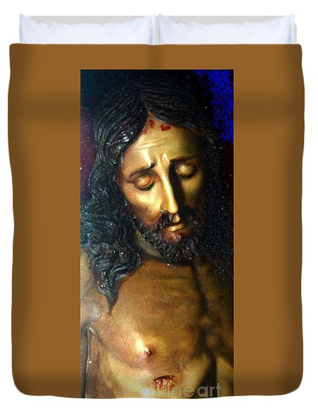Duvet Cover featuring the photograph Jesus by Gregory Dyer