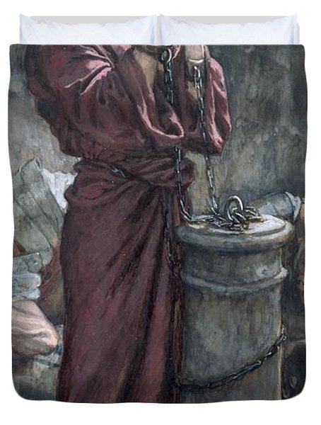 Jesus In Prison Duvet Cover