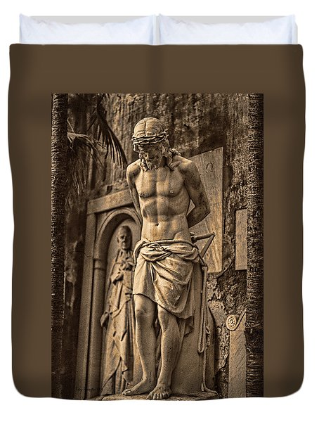 Jesus In Rome Duvet Cover
