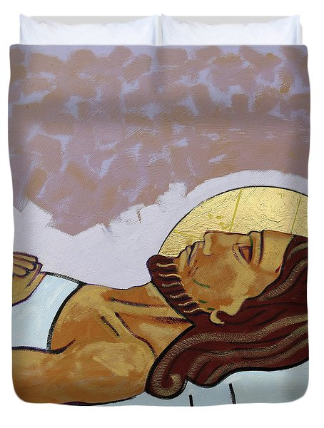 Jesus Is Laid In The Tomb Duvet Cover