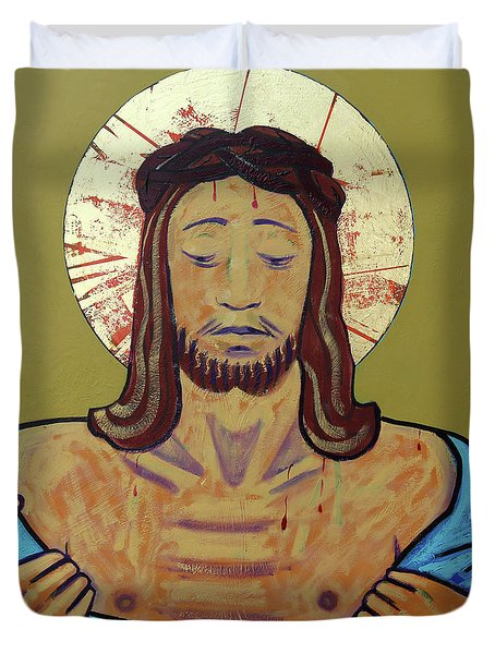Jesus Is Stripped Duvet Cover
