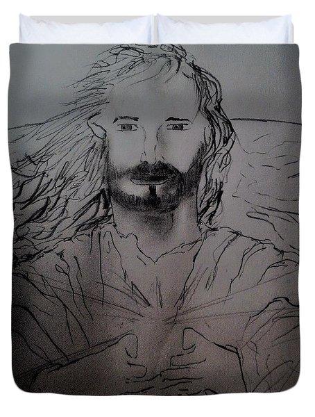 Jesus Light Of The World Full Duvet Cover
