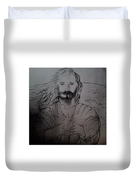Jesus Light Of The World Full Duvet Cover